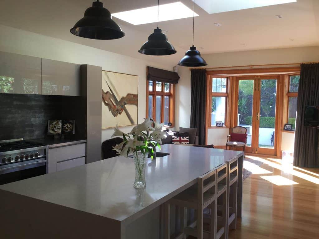 Thorndon, Wellington Interior Design Consultation - Butler's pantry, Industrial pendant lights, Timber floor